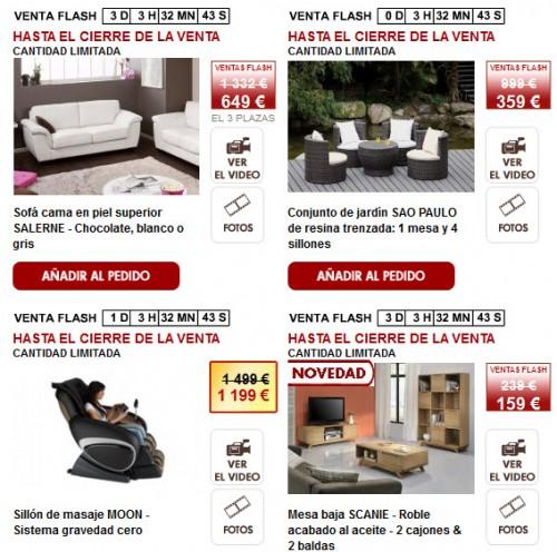 muebles online ahorra un 70 con las ventas flash de