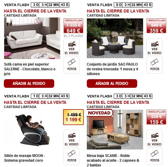 Muebles online ahorra un 70 con las ventas flash de - Muebles por internet espana ...