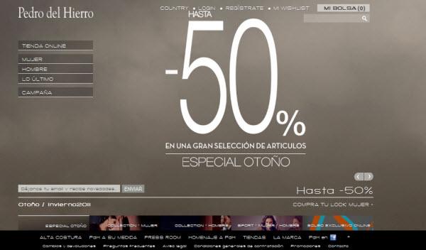 Rebajas Pedro del Hierro Online: Hasta 50%