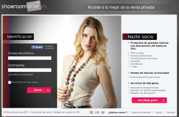 Showroomprive.es: uno de los portales preferidos por los españoles