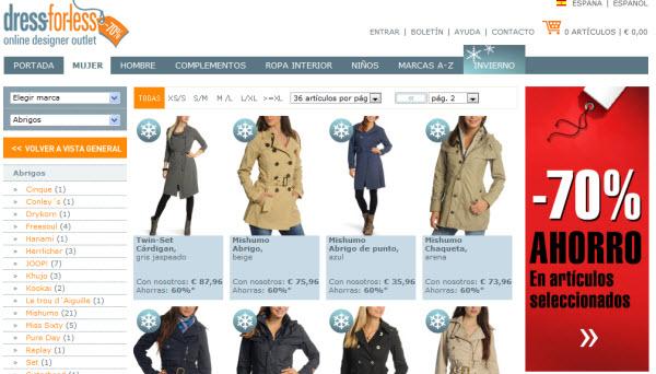 abrigos dress-for-less