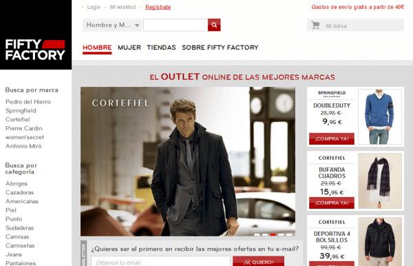 Rebajas Cortefiel en Fifty Factory: miles del prendas al -70%