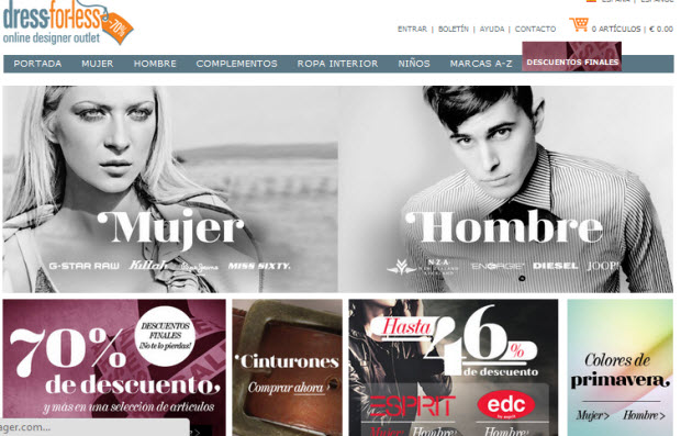 tiendas de ropa online con descuento