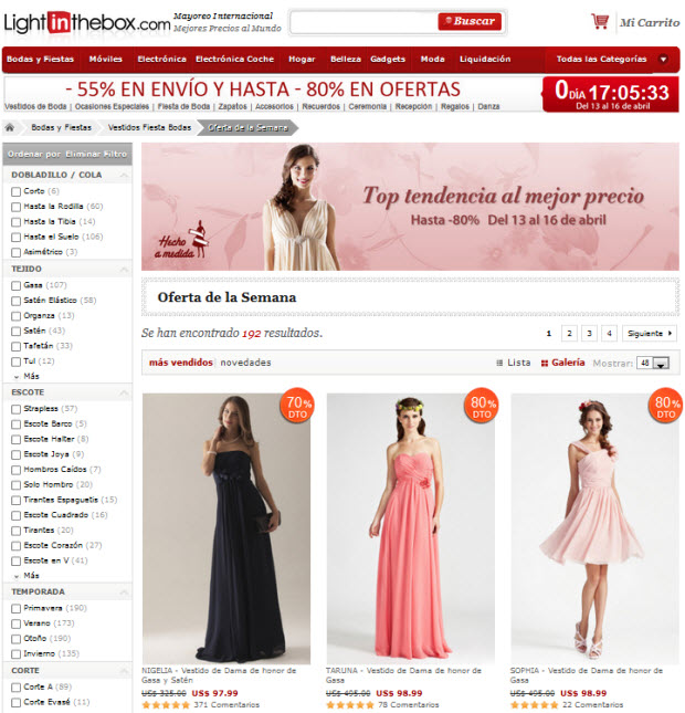 vestidos de fiesta baratos
