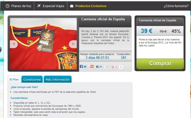 comprar la camiseta oficial de España
