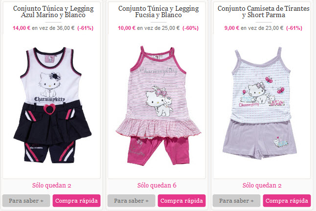 ropa infantil hello kitty