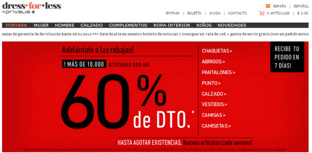 Vestidos online baratos en las rebajas Dress-for-Less
