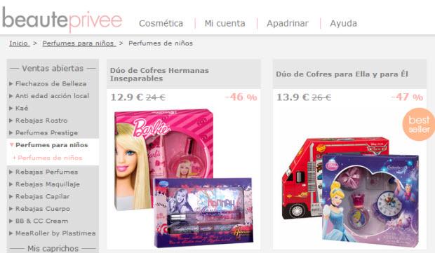 perfumes para niños online