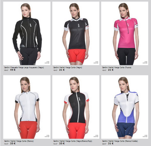 ropa ciclista mujer