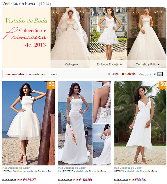 Vestidos de novia baratos en Lightinthebox: revisión y análisis