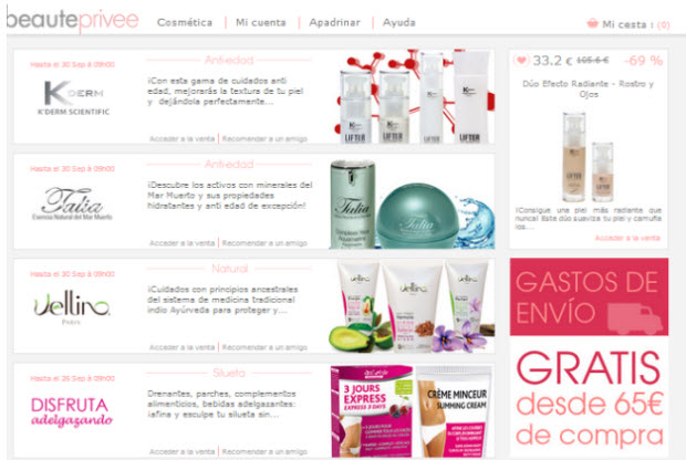 cosmeticos outlet