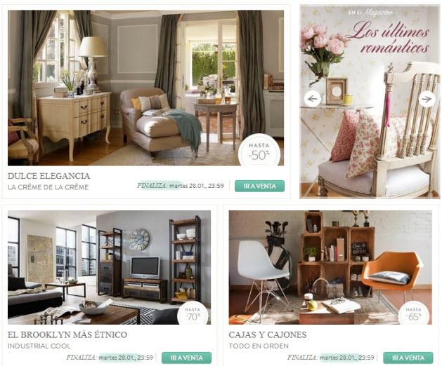 Ventas privadas de decoraci n ahorra hasta un 70 en for Outlet de muebles online