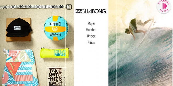 Billabong Outlet: venta privada con entrega en 72 horas