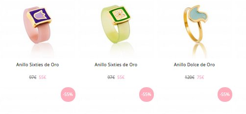 Tous outlet anillos