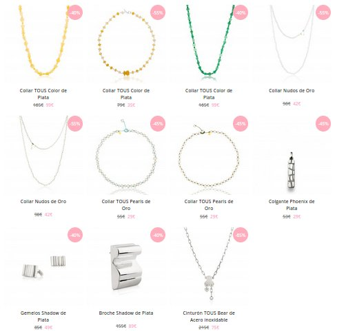 Tous outlet collares