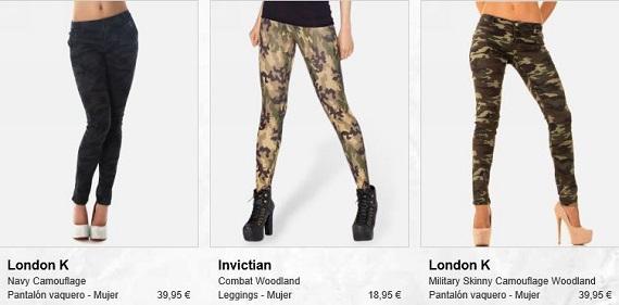 ropa militar mujer