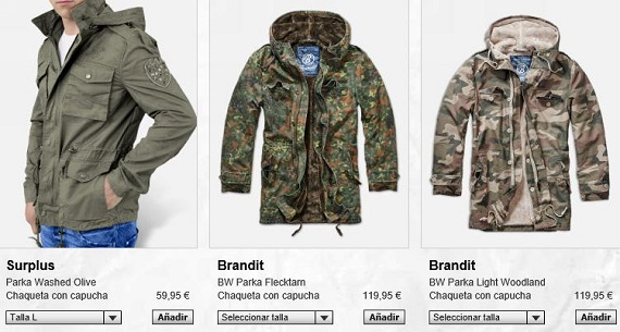 ropa militar online
