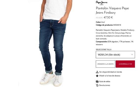 pepe jeans vaqueros