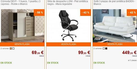 ventas privadas de muebles españa