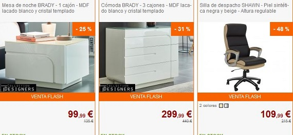Ventas privadas muebles y decoraci n de marca online for Muebles online outlet