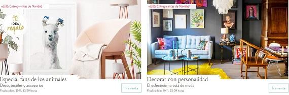 ventas privadas de muebles y decoración