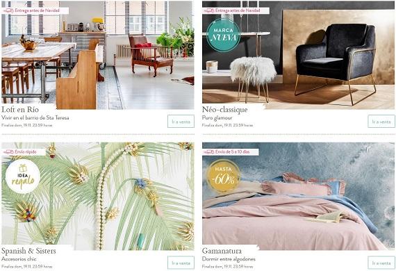 ventas privadas muebles de marca
